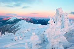 冬天山 库存照片