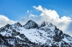 冬天山Elbrus 库存图片