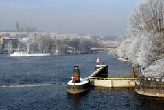 冬天布拉格 免版税图库摄影