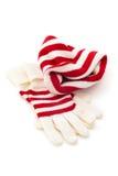 冬天帽子和手套 库存图片