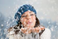 冬天幸福和无忧无虑 免版税图库摄影