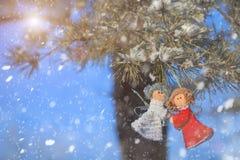 冬天庆祝美好的背景 免版税库存照片