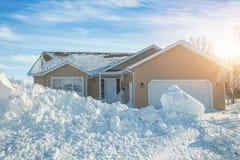 冬天房子 库存照片
