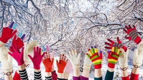 冬天手套和手套 免版税库存照片