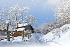 冬天拼贴画 库存照片