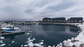 冬天挪威风景 免版税库存图片