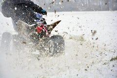 冬天摩托车越野赛 库存照片