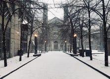 冬天教会 库存照片