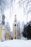 冬天教会 免版税库存图片
