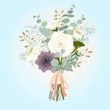 冬天新娘花束 向量例证