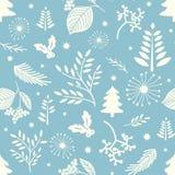 冬天无缝的圣诞节样式 免版税库存图片