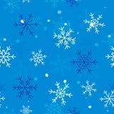 冬天无缝的雪花样式 传染媒介EPS 10 库存照片