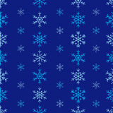 冬天无缝的雪花样式 传染媒介EPS 10 图库摄影