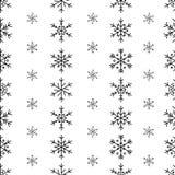 冬天无缝的雪花样式 传染媒介EPS 10 免版税图库摄影