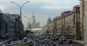 冬天早晨在莫斯科 免版税库存照片