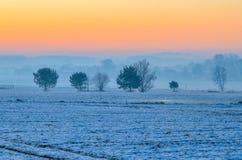 冬天早晨风景 图库摄影