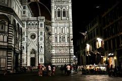 冬天晚上场面在佛罗伦萨,意大利 库存图片