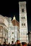 冬天晚上场面在佛罗伦萨,意大利 免版税库存图片