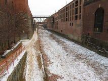 冬天来到乔治城 库存图片