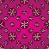 冬天桃红色和紫色无缝的样式 图库摄影