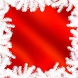冬天框架-抽象圣诞节背景 免版税库存图片