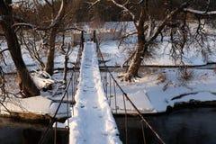 冬天桥梁 免版税图库摄影