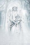 冬天森林天使 库存图片