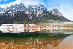 冬天横向全景 库存照片