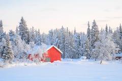 冬天横向基律纳瑞典 免版税库存照片