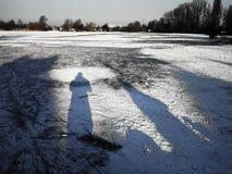 冬天横向 库存图片