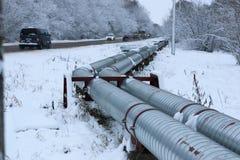 冬天气体管道 免版税图库摄影
