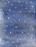 冬天水彩与下跌的雪stexture的梯度样式 库存图片