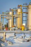 冬天油和煤气行业 库存图片