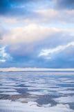 冬天沿海风景,波罗的海 免版税库存图片