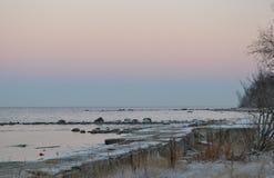 冬天海岸 库存图片