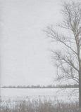 冬天海报的风格化葡萄酒纸背景 库存图片