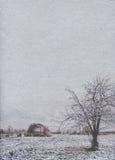 冬天海报的风格化葡萄酒纸背景 免版税图库摄影