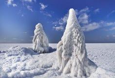 冬天海洋风景 免版税库存图片