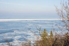 冬天海边横向 免版税库存照片
