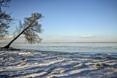 冬天海边风景 冬天海边风景 免版税库存照片