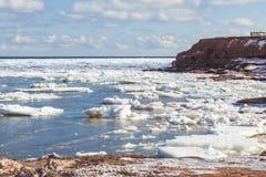 冬天海滩 库存图片