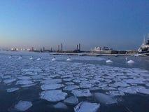 冬天海 库存图片