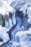 冬天瀑布 库存照片