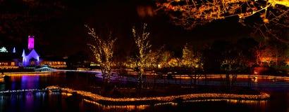 冬天照明在米氏,日本 库存照片