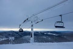 冬天电梯 图库摄影