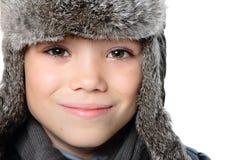 冬天男孩 免版税图库摄影
