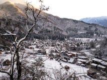 冬天白川町去 库存图片