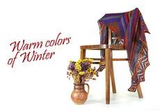 冬天的温暖的颜色 免版税图库摄影