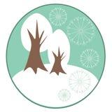 冬天空白结构树背景 库存照片