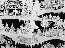 冬天童话场面 库存照片